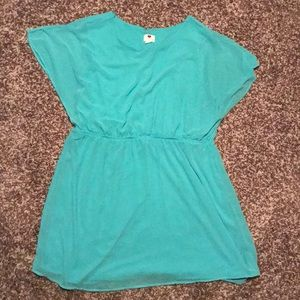 Dresses & Skirts - Mint Short Sleeve A-line Dress with Elastic Waist
